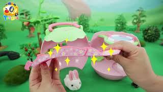 奇妙玩具故事🌟丨玩具巴士丨兒童玩具丨英語啟蒙丨🐇照顧小兔子🐰