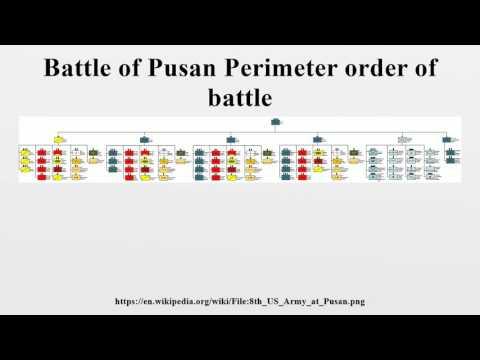 Battle of Pusan Perimeter order of battle