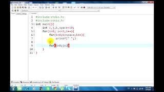 كيفية إنشاء الهرم عن طريق برنامج c