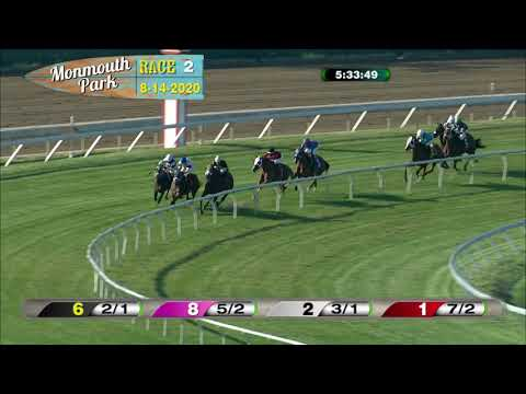 video thumbnail for MONMOUTH PARK 08-14-20 RACE 2