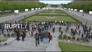 LIVE  Victory Day flowers laid at Berlin's Soviet War Memorial
