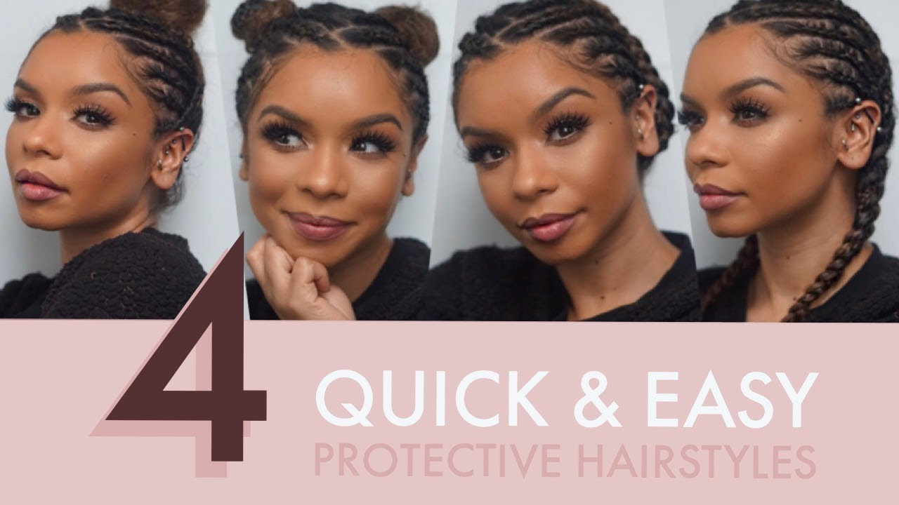 4 Quick Easy Protective Hairstyles For Natural Curly Hair Christina Vega