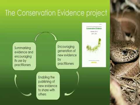 The Conservation Evidence Journal