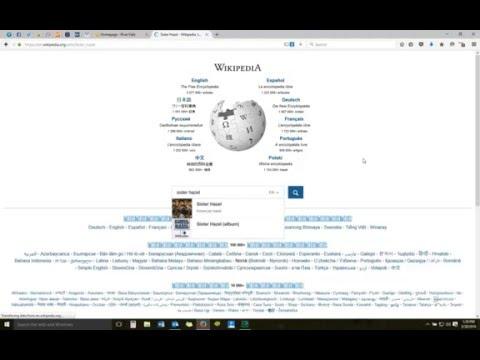 Wikipedia, Picking a Topic