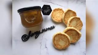 Творожно кокосовое печенье с мёдом