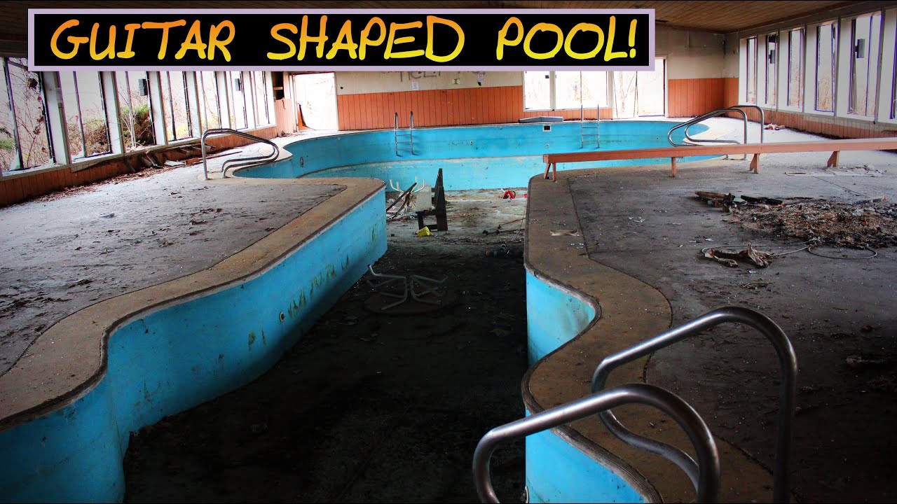Abandoned campground with guitar shaped pool youtube for Disused swimming pools