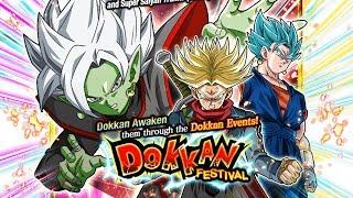 590 STONES! NICE PULLS! FUSION ZAMASU & SUPER SAIYAN RAGE TRUNKS DOKKAN FEST   DBZ Dokkan Battle