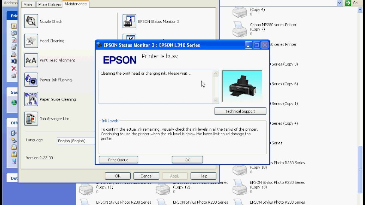 epson l310, print head cleaning solution
