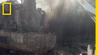 Watch: Oil Tanker Spill Off China May Have Lasting Environmental Impacts | National Geographic