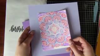 Cardmaking with a background stamp and 'watercolour' #aliexpress || September 2018