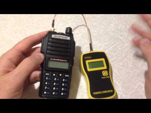 Тест радиостанции Baofeng UV-82, прибором измерения мощности GY561
