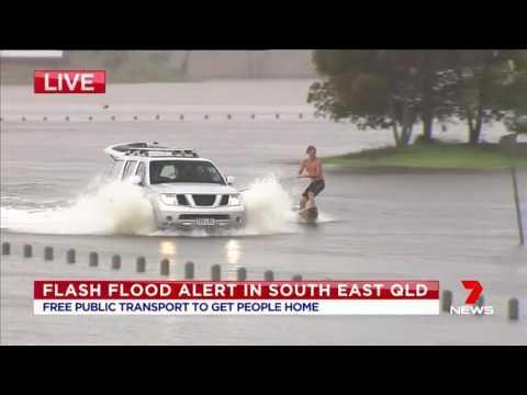 Only in Australia - Flood surfing 2