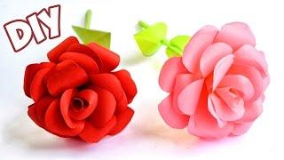 как легко сделать розу из бумаги
