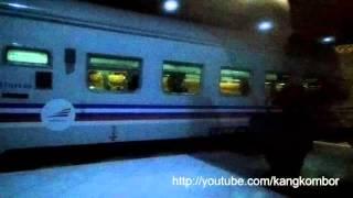 Kereta Api Senja Utama Solo Tiba di Stasiun Purwokerto