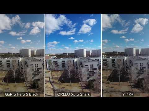 Nowość 2018 Test Porównanie Kamera sportowa GoPro Hero 5 Black vs Orllo Xpro Shark vs Xiaomi Yi 4K+