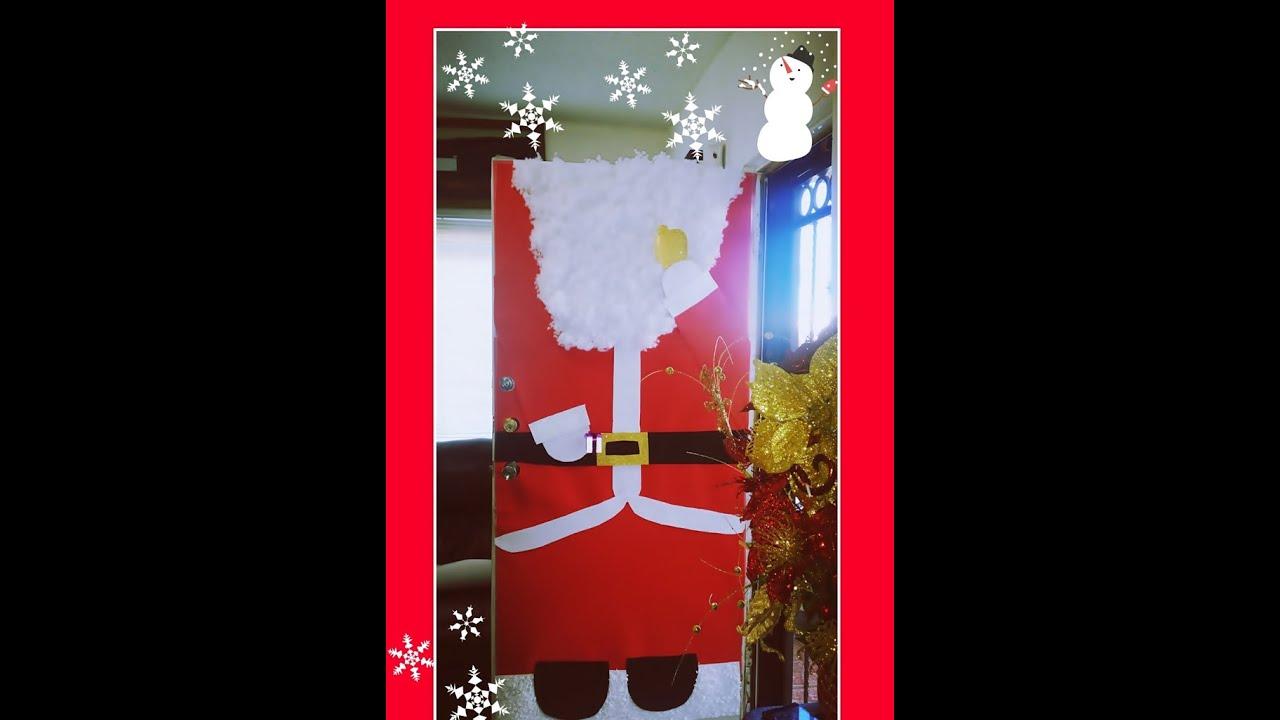 Puerta decorada navide a no se pierdan como la hice for Puertas decoradas santa claus