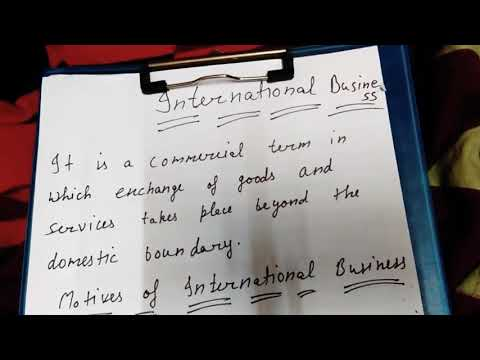 International business in hindi and simple language