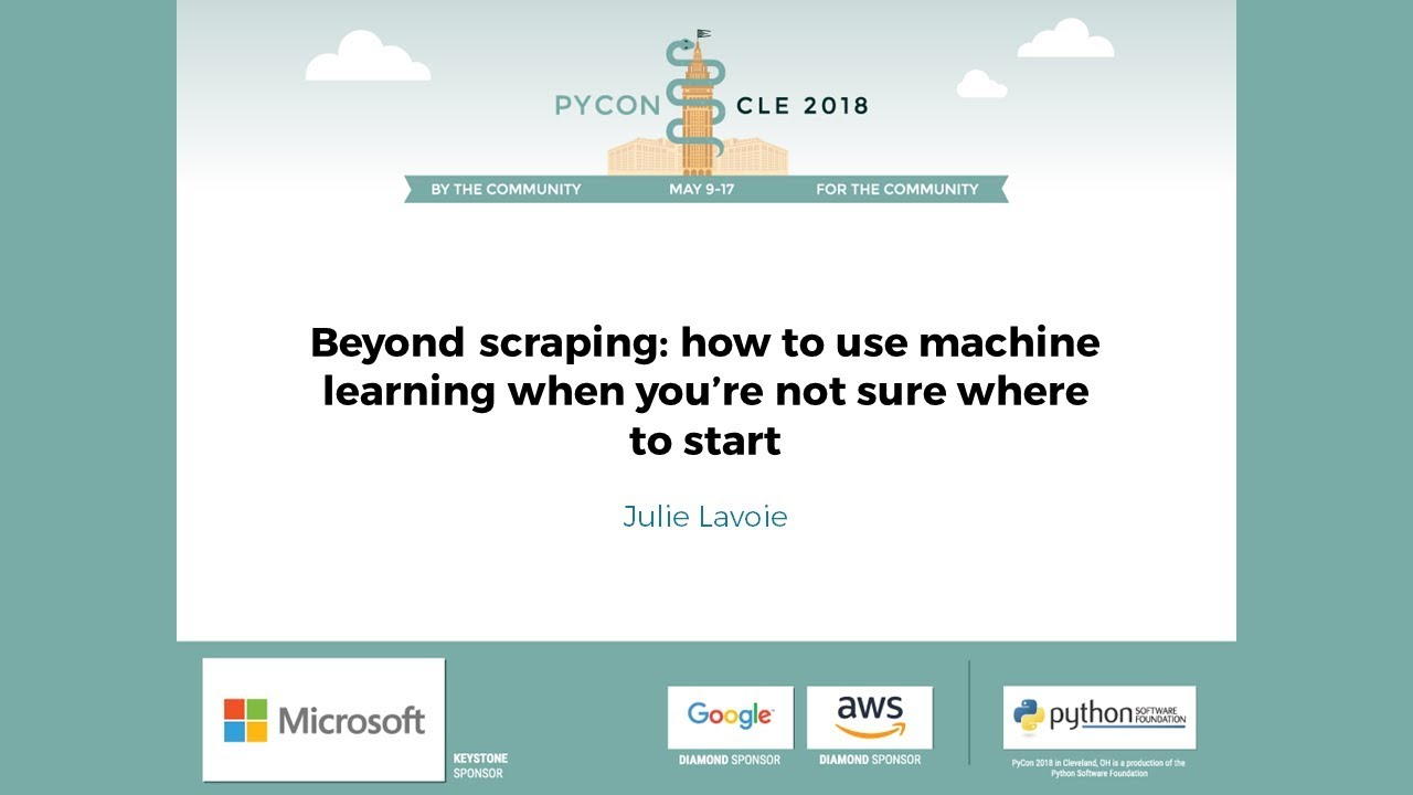 Image from Beyond scraping: how to use machine learning when you're not sure where to start