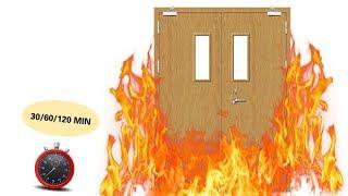 Qi'an Fireproof Door Fire rated test