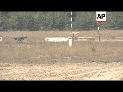 Ukraine's acting president Oleksandr Turchynov attends military exercise