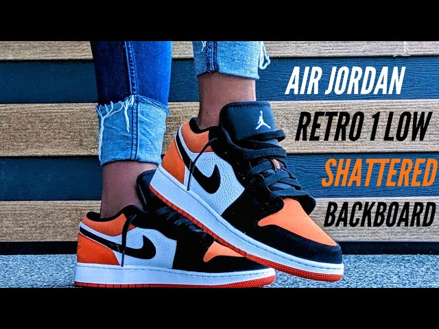 Got Em Air Jordan Retro 1 Low Shattered Backboard Gs Unboxing On Foot Youtube