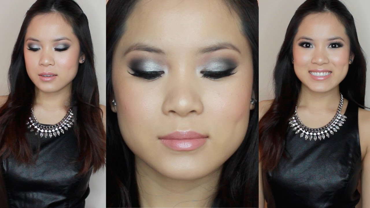 PROM MAKEUP | Black \u0026 Silver Smokey
