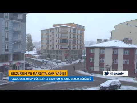 Erzurum ve Kars'ta kar yağışı başladı