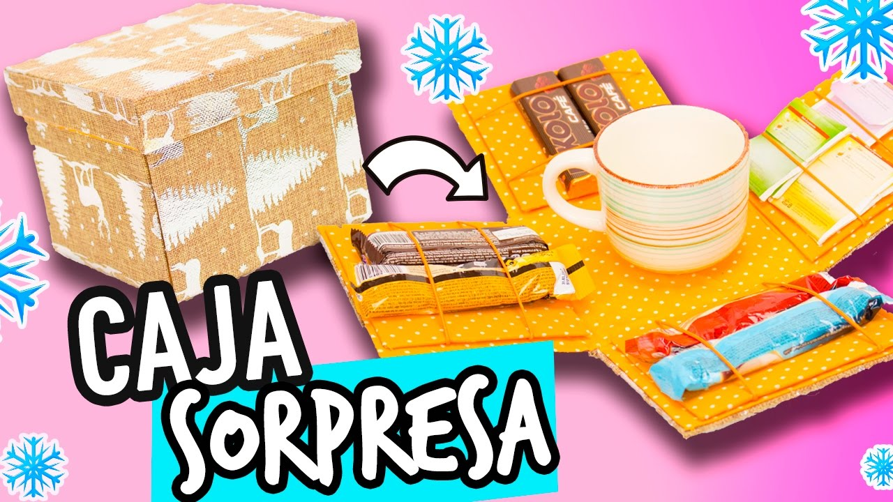 Caja Sorpresa De Regalo De Cartón Manualidades Ideas Para Regalar Cartonaje Catwalk Youtube