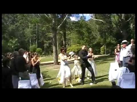 Phil + Elina -Funniest Wedding Dance Entrance -Best Ever!  Hilarious
