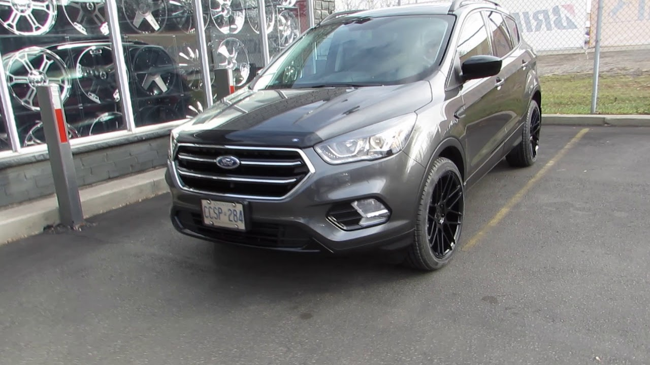 2017 ford escape with custom 19 inch black rims tires. Black Bedroom Furniture Sets. Home Design Ideas