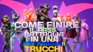 "5 ""VERI"" TIPS to FINISH the Battle Pass 6 FAST FORTNITE ITA Contest"