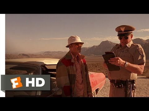 Fear and Loathing in Las Vegas 810 Movie CLIP  The Lonely Highway Patrolman 1998 HD