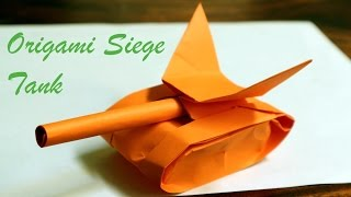 Membuat origami tank tempur origami siege tank