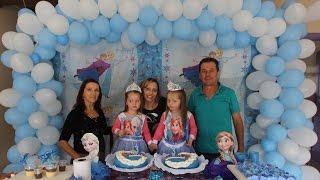 ARCO OU PAINEL DE BALÕES (tutoriaL passo a passo) - TEMA FROZEN - DECORAÇÃO DE FESTA INFANTIL