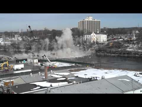Morgan Street Bridge Implosion Rockford, Il