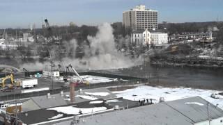 Morgan Street Bridge Implosion Rockford, Il