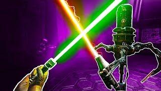 I Steal Darth Vader's Lightsaber and Fight Some Dumb Robots in Vader Immortal VR!