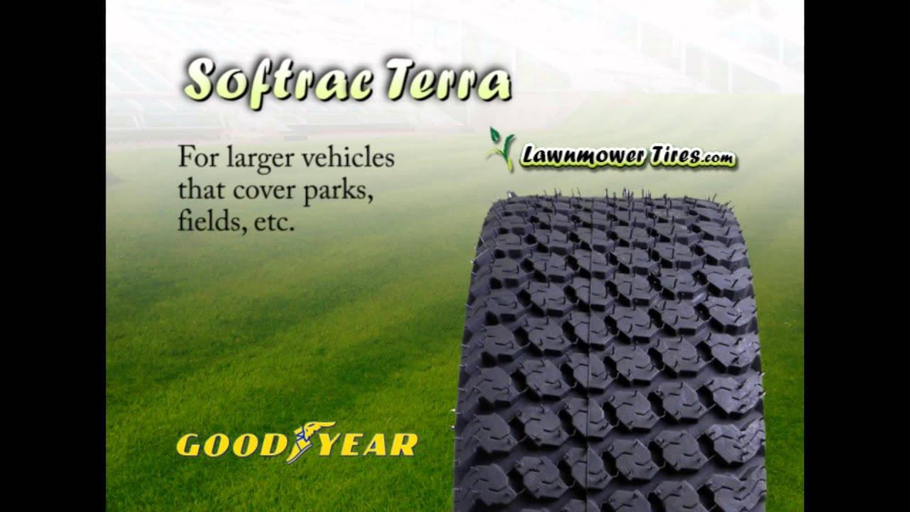 All Terrain Tires >> Goodyear Softrac Terra Mower Tires - YouTube