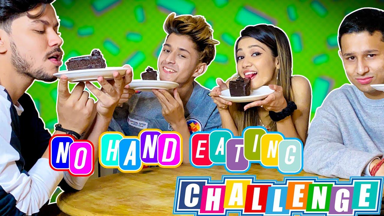 No Hand Eating Challange | Revenge gone wrong | @RAHUL GHILDIYAL | @Amrita Khanal