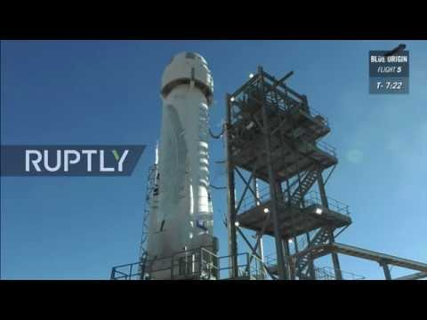 LIVE: Blue Origin to test new suborbital spaceflight system