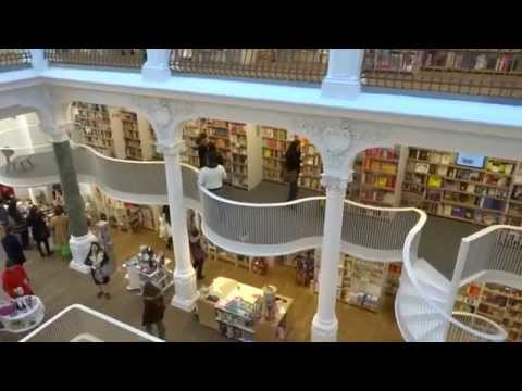 "Magical bookstore ""Carturesti Carusel"" in Bucharest, Romania"