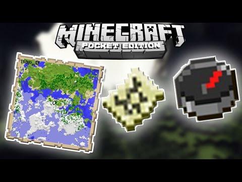 ✔ Minecraft PE - PUSULALI HARİTA NASIL YAPILIR ?