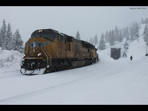 Thumbnail: Trains Through the Snow: UP Trains Battle Donner Pass