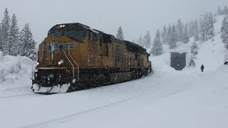 Trains Through the Snow: UP Trains Climb Donner Pass