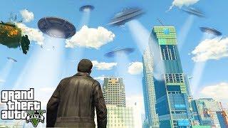 Конец света уже сегодня! ОГРОМНОЕ вторжение Инопланетян в GTA 5?