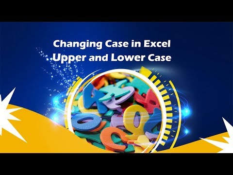 how to make uppercase in excel