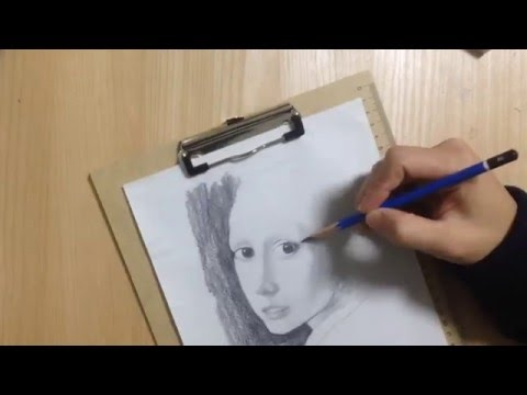 drawing of girl with pearl earring
