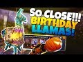 IM SO CLOSE!!! BIRTHDAY LLAMAS PLEASE! | Fortnite Save The World