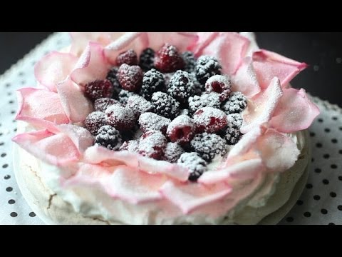pavlova baiser dessert selber machen youtube. Black Bedroom Furniture Sets. Home Design Ideas