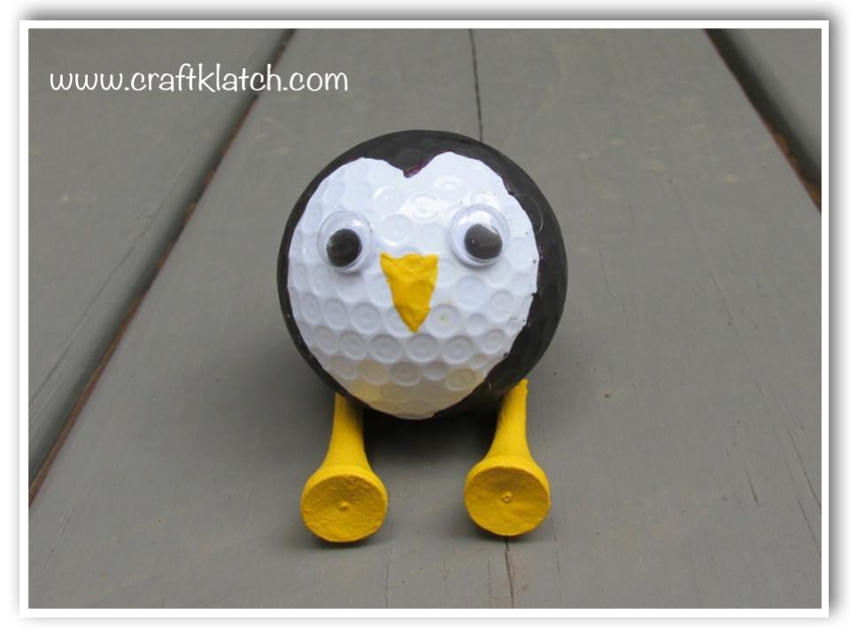 DIY Recycled Golf Ball Penguin YouTube